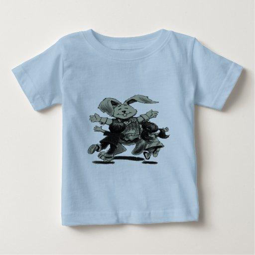 RABBIT PLAYING WITH CHILDREN BABY T-Shirt