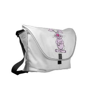 rabbit png tonto feliz rosado grande bolsas messenger