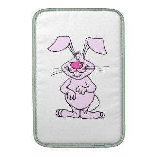 rabbit png tonto feliz rosado grande fundas para macbook air