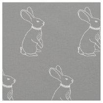 Rabbit Print Fabric