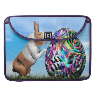 Rabbit pushing easter egg - 3D render Sleeve For MacBooks