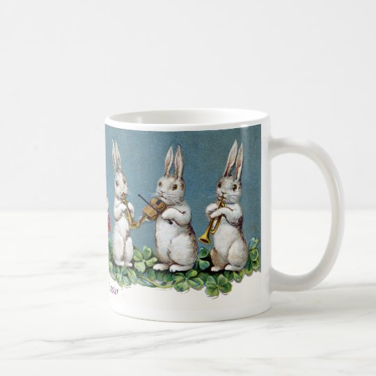 Rabbit Quartet Vintage Easter Coffee Mug