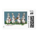 Rabbit Quartet Vintage Easter Postage Stamp