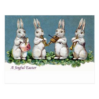 Rabbit Quartet Vintage Easter Postcards