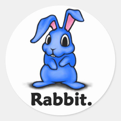 Rabbit Rabbit. Classic Round Sticker