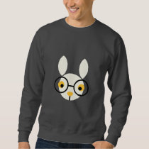 Rabbit Rabbits Bunny Head Cute Glasses Cartoon Sweatshirt
