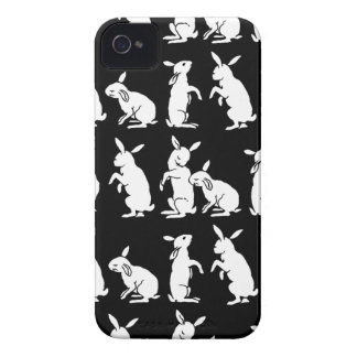 Rabbit Rabbits Silhouette Bunny Rabbits Easter iPhone 4 Case