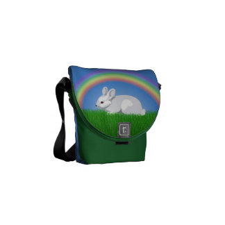 Rabbit & Rainbow Courier Bags