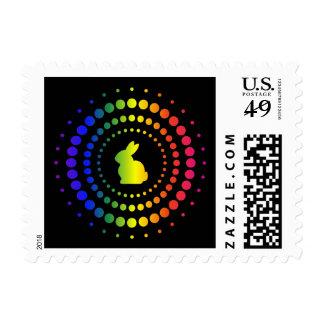 Rabbit Rainbow Studs Postage