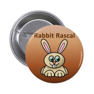Rabbit Rascal Pinback Button