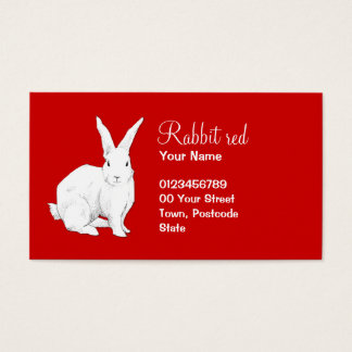 Rabbit red Business Card