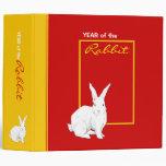 Rabbit red Chinese New Year Binder
