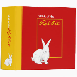 Rabbit red Chinese New Year Binder
