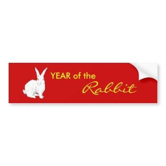 Rabbit red Chinese New Year Bumper Sticker bumpersticker