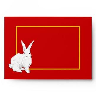 Rabbit red Chinese New Year Card Envelope envelope