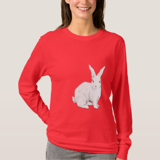 Rabbit red Ladies T-shirt