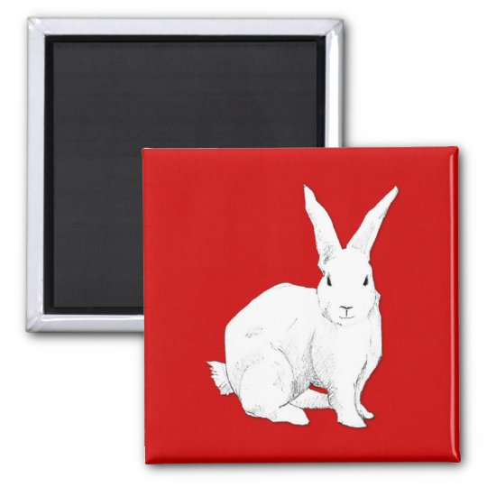 Rabbit red Magnet