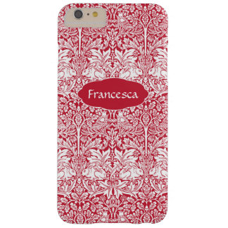 Rabbit Red Pattern Morris Personalized Monogram Barely There iPhone 6 Plus Case