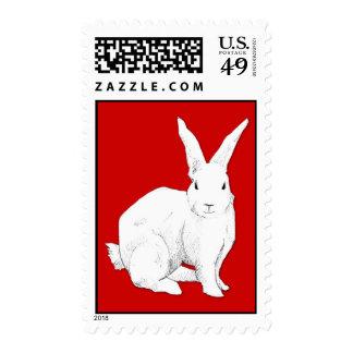 Rabbit red Stamp