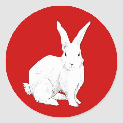 Rabbit red Sticker