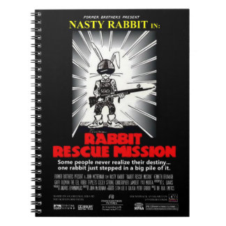 Rabbit Rescue Mission movie poster 80-page journal Note Books