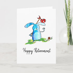 Rabbit Retirement Card