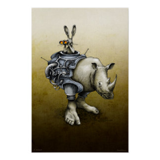 Rabbit-Rhino Posters