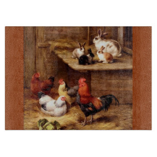 Rabbit Rooster Bunnies Farm Animals Pets Cutting Boards