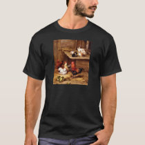 Rabbit rooster hens farm animals bunnies T-Shirt