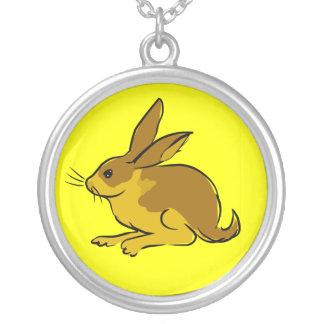 Rabbit Round Pendant Necklace