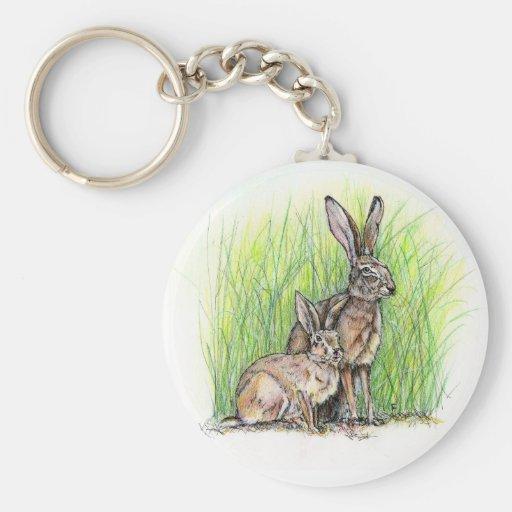 Rabbit Royalty Basic Round Button Keychain