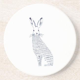 rabbit sandstone coaster