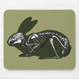 rabbit skeleton mouse pad
