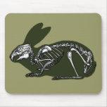 rabbit skeleton mouse pads