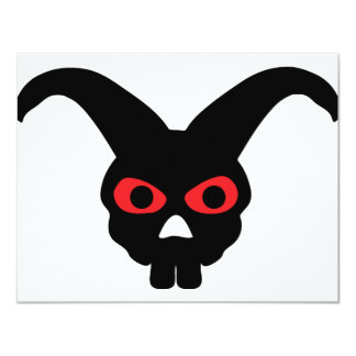 rabbit skull halloween icon personalized invite