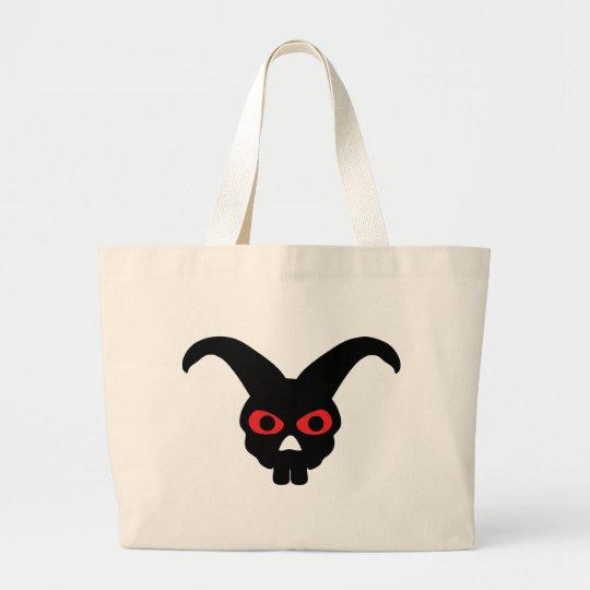 rabbit skull halloween icon large tote bag