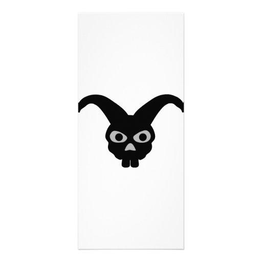 rabbit skull icon customized rack card