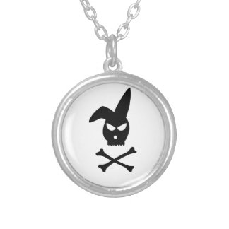 Rabbit Skull Round Pendant Necklace
