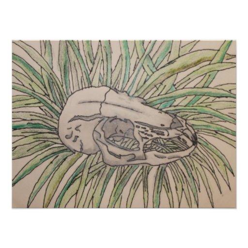 Rabbit Skull Photo Art