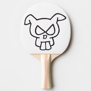 rabbit ping pong table tennis paddles zazzle Ping Pong Player Costume rabbit skull ping pong paddle