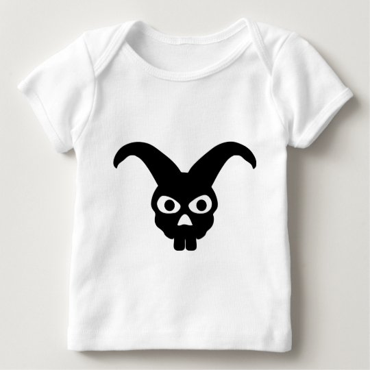 rabbit skull symbol baby T-Shirt