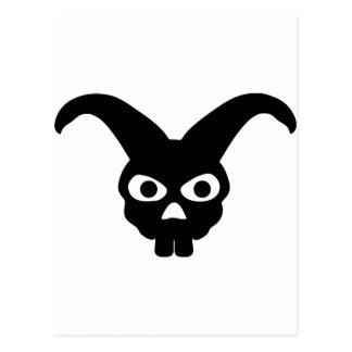 rabbit skull symbol postcard