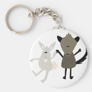 Rabbit & Skunk Key Chain