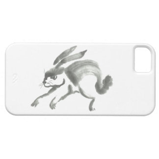 Rabbit Sumi-e titled   March Hare iPhone 5 Cases