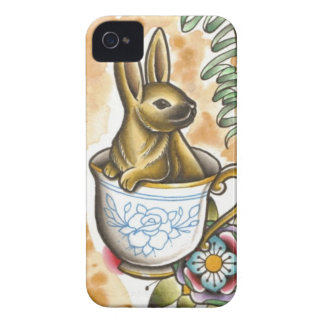 Rabbit Tea Party Case-Mate iPhone 4 Case