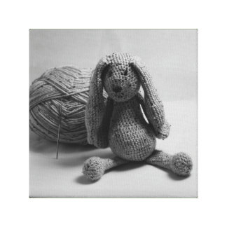 Rabbit teddy design cards and paper products canvas print