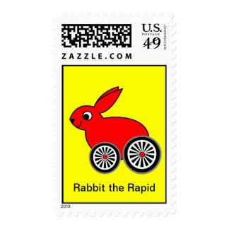 Rabbit the Rapid - The Ferrari Challenge Postage Stamps