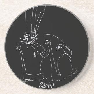 rabbit.tif sandstone coaster