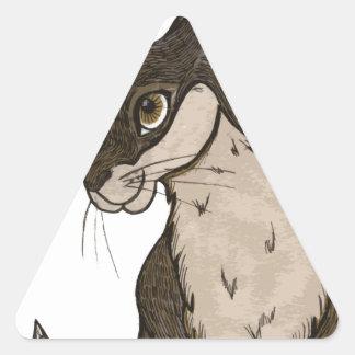 Rabbit Triangle Sticker