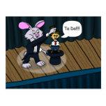 Rabbit Trick Postcard